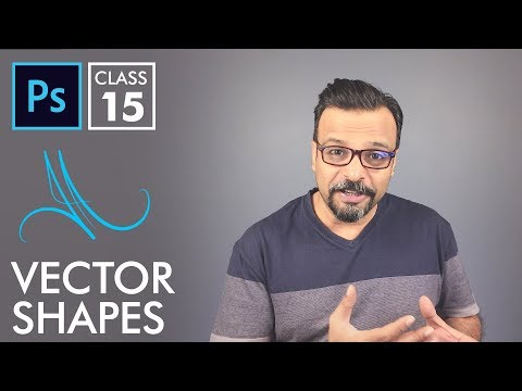 Vector Shapes - Adobe Photoshop for Beginners - Class 15 - Urdu / Hindi
