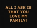 All i ask is that you love my family-english with urdu nauha