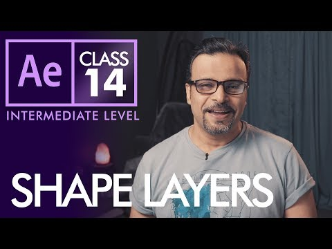 Shape Layers in After Effects Class 14 - Urdu / Hindi