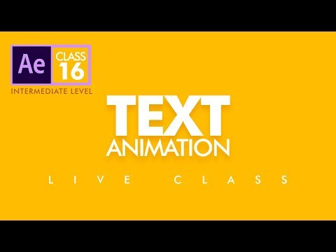 🔴Text Animation in After Effects - Replay Class 16  - اردو / हिंदी