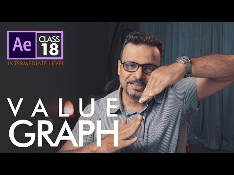 Value Graph in Adobe After Effects Class 18 - اردو / हिंदी