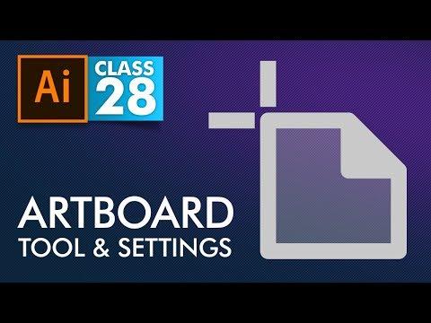 Adobe Illustrator - Artboard Tool and Settings - Class 28 - Urdu / Hindi