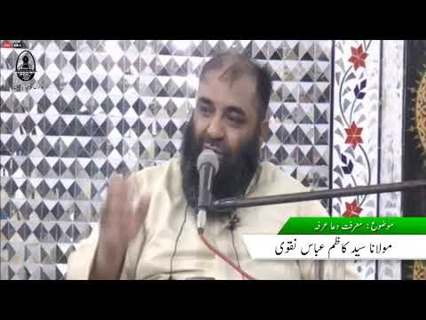 MOLANA SYED KAZIM ABBAS NAQVI | Marfat e Dua e Arfa | Part 2 | Urdu