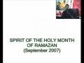 SPIRIT OF RAMZAN-Sept 2007-Syed Ali Murtaza Zaidi-Urdu