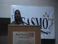 CASMO World Womens Day 2010 - MC Sister Zahra Jafri - English