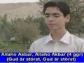 Adhan (Böneutrop) inför bönen - Swedish