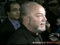 ** IMP ** Media conference by George Galloway during Welcome Rally at Pearson Airport Toronto, Canada - English