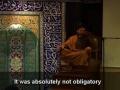 Seyyed Shams - Arbain 2008 - Night 5 - Fana VS Free Will [Persian]