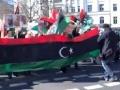 March in Berlin against the crimes of Gaddafi in Libya   مسيرة في برلين ضد جرائم القذافي في