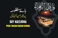 Ali Safder Nauha - Hae Mazlooma- Urdu