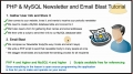 5 Mass Email Website Newsletter Bulk Batch Send Tutorial PHP MySQL - English