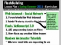 Spring & Summer 2011 Curriculum - FlashBuilding Channel - English
