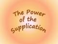 Power of Supplication - English
