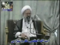 Ayatullah Makarem Shirazi mourning for Imam Hussain a.s. and his family