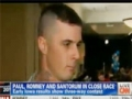 BLATANT CENSORSHIP by CNN of Soldier Supporting Ron Pauls Foreign Policy - English