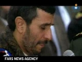 Ahmadinejad praying