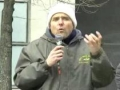 [NO WAR ON IRAN] - James Loney - Peace activist - Rally in Toronto 04 Mar 2012 - English