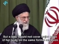 04 Ayatullah Khamenei - Degrading women a Zionist protocols - Farsi sub English