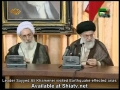 [16 August 2012] Leader visited Earthquake effected areas - Farsi