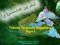 Tribute to Imam Sajjad a.s. - Urdu Noha with English Message