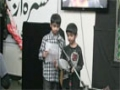 The Message Day of Sunday School HAC - Beautiful Noha by Masters Irfan and Daniel Part 1-Urdu