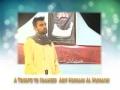 Tarana for Shaheed Arif Hussain Al Hussaini  - Br. Furqan - Urdu