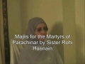 Majlis for Martyrs of Parachinar - Sister Rohi Hasnain - Urd