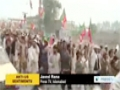 [27 Nov 2013] Pakistan anti-drone protesters block NATO supply route - English