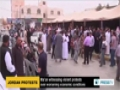 [27 Apr 2014] Protests continue for 8th day in restive city of Maan in Jordan - English