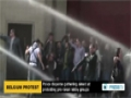 [04 May 2014] Belgian police use water cannon to disperse gathering aimed at protesting pro-israel lobby groups -English