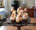 Chocolate Cream Puff Swans - How to Make Swan Cream Puffs - English