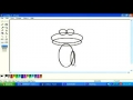 Drawing cartoon animals frog in MS paint English  pt 3