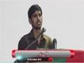 [یوم حسین ع] Salam : Br. Noor - 03 December 2014 - Dawood Engineering University - Urdu