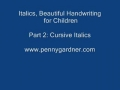 Cursive Handwriting for kids twoA - English