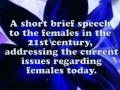Speech regarding Woman by Zahra Al Alawi-English