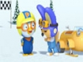 Animated Cartoon - Pororo - A Sled Race - English