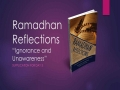 [Supplication For Day 3] Ramadhan Reflections - Ignorance and Unawareness - Sh. Saleem Bhimji - English