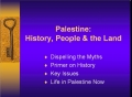 Presentation-History, Statistics and Facts About Israel and Palestine - English